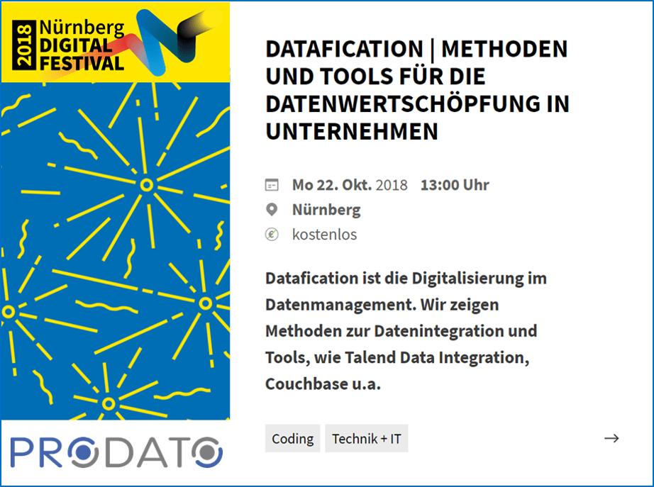 Datafication - Event am 22.10.2018 - Nürnberg Digital Festival