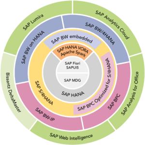 Grafik SAP BI Produktportfolio 2018