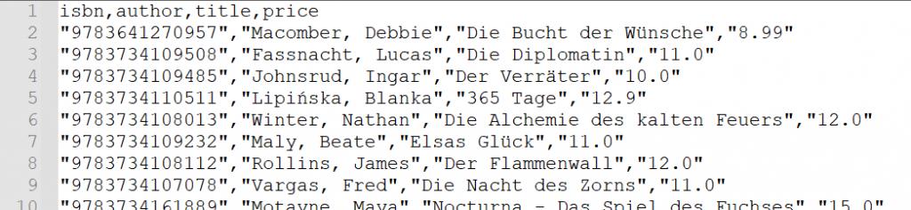 Output Datei mit hinzugefügten Preisen